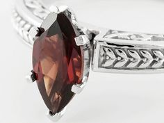 1.15ct Marquise Vermelho Garnet(Tm) Sterling Silver Solitaire Ring