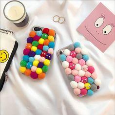 Typisch bunte fabirige Wollekugeln all cover case für Iphone6/6plus/7/7plus