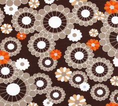 Sweaterstof retro flowers - Stoffen - De Stoffenkamer