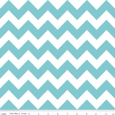We love a chevron print! And aqua is one of our favorite colors!