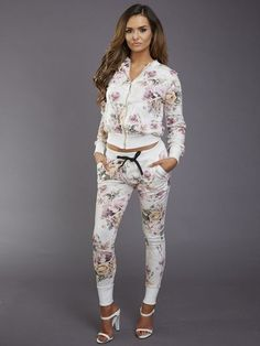 We're prepared for all weather conditions with this Arosa Floral Tracksuit. Super duper cute!!