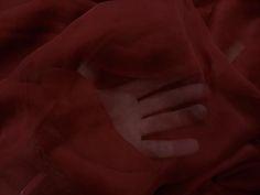 mousseline de soie rouge bordeaux