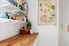 Open Shelving. That print needs to be mine.