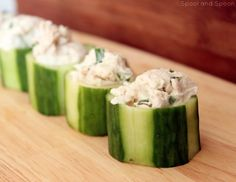 Spool and Spoon: Chicken Salad | Cucumber Cups