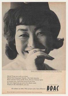 BOAC British Airways Stewardess Sheila Wong (1964)