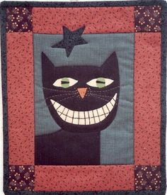 Country Threads :: Itty Bitty Quilt Patterns & Kits :: Charlie the Cat Itty Bitty Kit