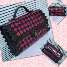 Candy Wrappers, Candy Bags, Duct Tape, Louis Vuitton Damier, Repurposed, Origami, Diy And Crafts, Projects, Pattern