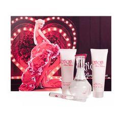 Paris Hilton Can Can for Women Gift Set (Eau de Parfum Spray, Lotion, Bath and Shower Gel, Perfume Stick)