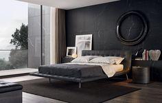 #bedroom #blackwall #blackinterior | Onda