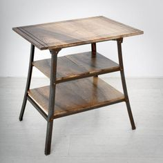 Walnut & Iron Side Table, 1930s for sale at Pamono
