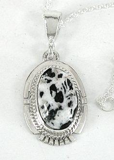 Authentic Native American White Buffalo Pendant by Navajo Larson Lee