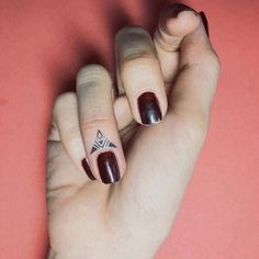This graphic triangle design is understated and chic.