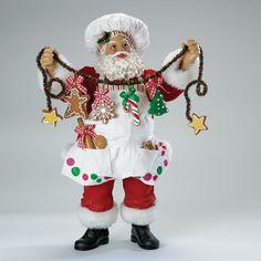 "12""A CHRISTMAS CHEF SANTA #santachef #santagingerbread"