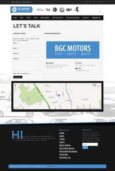 Web Design & Development for BGC Motors.