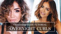HAIR TUTORIAL - HOW I DO MY CURLY HAIR - LONG BOB HAIR STYLE TUTORIAL FO...