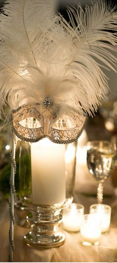 Masquerade Decorations Diy Discover Thousands Of Images About Love This Centerpiece Idea Masquerade Party Diy Masquerade Party Decorations, Masquerade Prom, Sweet 16 Masquerade, Prom Decor, Venetian Masquerade, Diy Party Table Decorations, Masquerade Cakes, Masquerade Party Invitations, Carnival Decorations