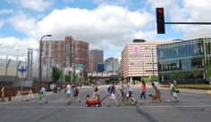 Minnesota's attempt at Abbey Road. 16th & Hennepin in Minneapolis.