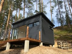 Tiny House Luxury, Tiny House Cabin, Tiny Houses, Outdoor Sauna, Studio Shed, Houses In France, Modern Shed, Backyard Buildings, Garden Spaces