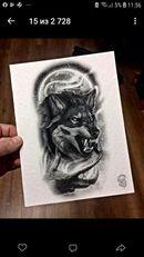 Fotografias de тату эскизы Samurai Tattoo Sleeve, Wolf Tattoo Sleeve, Lion Tattoo, Sleeve Tattoos, Wolf Tattoos Men, Tattoos For Guys, Owl Tattoos, Fish Tattoos, Wolf Tattoo Design