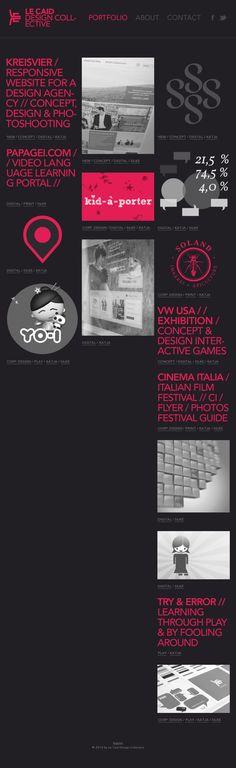 The website 'http://www.lecaid.com/' courtesy of @Pinstamatic (http://pinstamatic.com) #tipografía #color