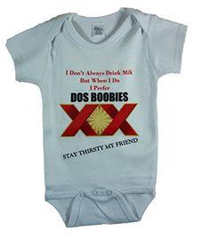 Dos Boobies, Funny Baby Bodysuit - (White) Handmade 4 Babies http://www.amazon.com/dp/B00F25GQQK/ref=cm_sw_r_pi_dp_J4I6tb1HX8C21