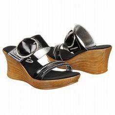 083ec84cb4f Onex Cynthia Wedge Heels Womens Black Leather - ONLY  97.00. Onex Shoes