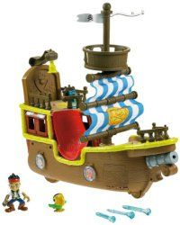 Fisher-Price Disney's Jake and The Never Land Pirates – Yo-ho-ho! Prepare the Transformers, Hot Wheels and your sister's dollhouse, because they're about to get boarded by the Fisher-Price Jakes Musical Pirate Ship Bucky. This fun pirate ship based on Jake and the Never Land Pirates plays pirate tunes and 25 different pirate-themed phrases to spice up the high-seas adventure. Jake's Musical Pirate Ship Bucky [Amazon Exclusive] #Hottesttoys, #toptoys
