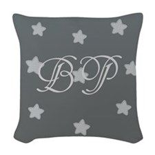 Add Initials Monogram Stars Woven Throw Pillow by Technotext - CafePress Pillow Inserts, Pillow Covers, Grey Pillows, Colorful Pillows, Monogram Initials, Designer Throw Pillows, Backdrops, Pure Products, Stars
