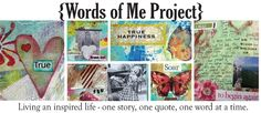 Living an inspired life - one story, one quote, on word at a time.  I like the banner, just as the title states, she documents her day while sprinkling in photos, art journaling etc...