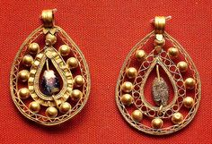 6-7c Byzantine earrings, Cypus BRITISH MUSEUM