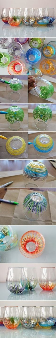 Easy DIY Crafts: Definitely want to make a set of these. Pretty!