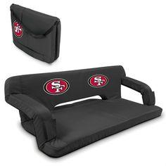 San Francisco 49ers Black Reflex Portable Couch at SportsFansPlus.com