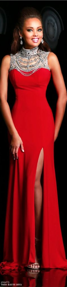 """""""RED"""" .. """"Lady Is .. """"GORGEOUS"""" .. """"Just Like Her .. """"RED GOWN"""" ... """"CLASS"""" ..."""