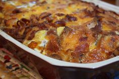 Bacon, Egg, and Cheese Bagel Casserole