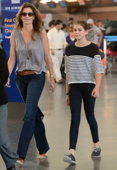 Cindy Crawford and Kaia Gerber  arrive in new York City. Advice for Cindy's daughter: when your date arrives to pick you up, do not bring him in the house to meet Mom. Trust me on this one...