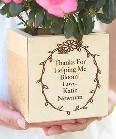 Look what I found on #zulily! 'Thanks For Helping Me Bloom' Planter Box by Morgann Hill Designs #zulilyfinds
