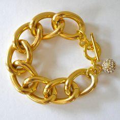 oiajules.com   chunky gold bracelet