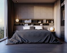The best bedroom decoration ideas. Bedroom Wall design ideas and decors. Master, Couples,White,Black, and many magnificent examples. Cosy Bedroom, Master Bedroom, Bedroom Decor, Bedroom Bed, Contemporary Bedroom, Modern Bedroom, Bedroom Wall Designs, Living Room Trends, Bed Wall