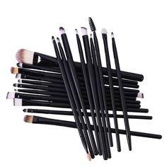 O Black Professional Makeup Brushes Set Make up Brush Tools Kit Foundation Powder Shader Liner Eyeliner, Eyeshadow, Cosmetic Brush Set, Picture Gifts, It Cosmetics Brushes, Uv Gel Nails, Powder Foundation, Makeup Brush Set, Professional Makeup