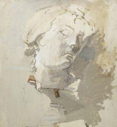 Euan Uglow (British, 1932-2000) Baroque Head 55.8 x 50.7 cm. (22 x 20 in.) (Painted in 1968)