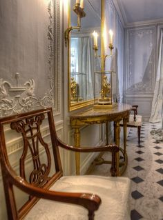 Bathroom of Marie Antoinette, Versailles.