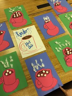 Melanie Lupien Art Class: Kindergarten Art Lesson on texture. Hot Coco art lesso… Melanie Lupien Art Class: Kindergarten Art Lesson on texture. Kindergarten Art Lessons, Art Lessons Elementary, Art For Kids, Crafts For Kids, Winter Art Projects, Arte Pop, Art Classroom, School Classroom, Preschool Crafts