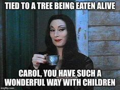 Morticia//TWD season 5 humor / #TheWalkingDead #Carol 2015