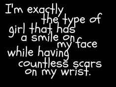 Depression Quotes for Teenage Girls | Depression Quotes About Cutting Girl, cutting, quote and