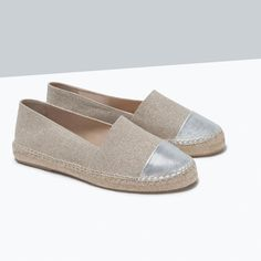 ZARA - SHOES & BAGS - METALLIC CAP-TOE ESPADRILLES