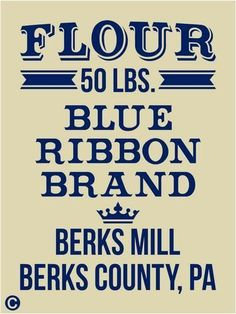 Primitive-Stencil-FLOUR-BLUE-RIBBON-BRAND-Vintage-Kitchen-Feed-Sack-Pillow-Sign