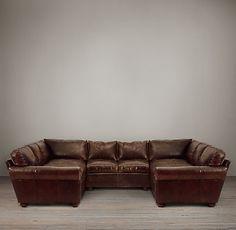 Lancaster Leather U-Sofa Sectional