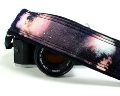 Galaxy No.5 Camera Strap, Handpainted, OOAK, dSLR or SLR, Cosmos, Nebula. $35.00, via Etsy.
