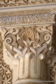 The Alhambra in Granada, Spain Indian Architecture, Classical Architecture, Ancient Architecture, Beautiful Architecture, Beautiful Buildings, Architecture Details, Grenade, Arabesque, Islamic Art