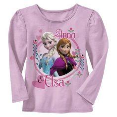 Disney® Frozen Infant Toddler Girls' Long Sleeve Anna & Elsa Tee - Pink -- Target